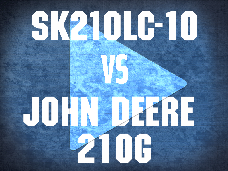 SK210LC -10 VS JOHN DEERE 210G VIDEO