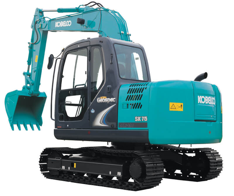 Image of Conventional Excavator SK75-8 Machine Exterior for Latin America model