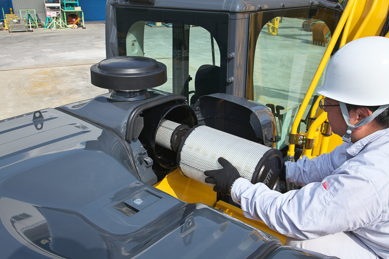 Image of Conventional Excavator SK350LC-10 Double Air Filter of North America model