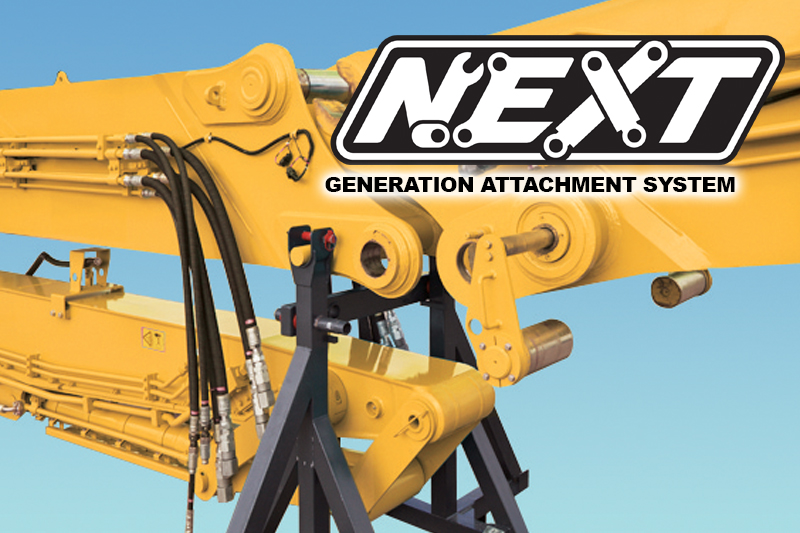 Image of Specialty SK550DLC-10 Building Demo Excavator NEXT Attachment System for North America model