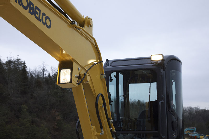 Image of Mini Excavator SK30SR-6E Working Lights of North America model