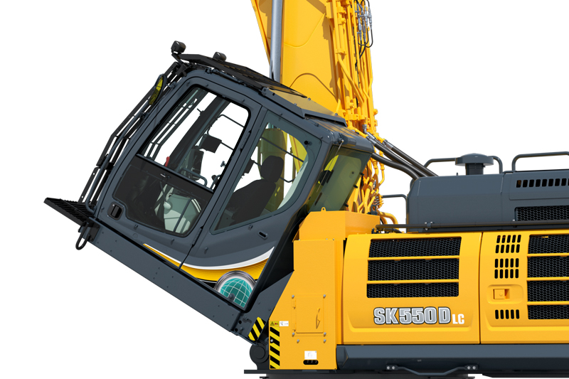 Image of Specialty SK550DLC-10 Building Demo Excavator Cab Tilt for North America model