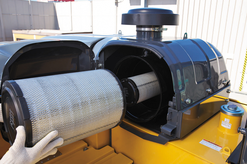 Image of Specialty SK550DLC-10 Building Demo Excavator Air Cleaner - Double Element for North America model