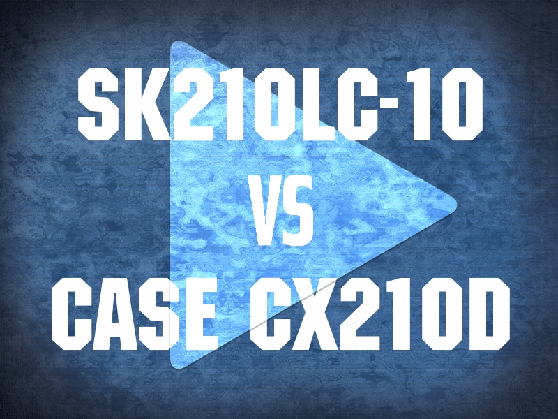 SK210LC-10 vs Case CX210D Video