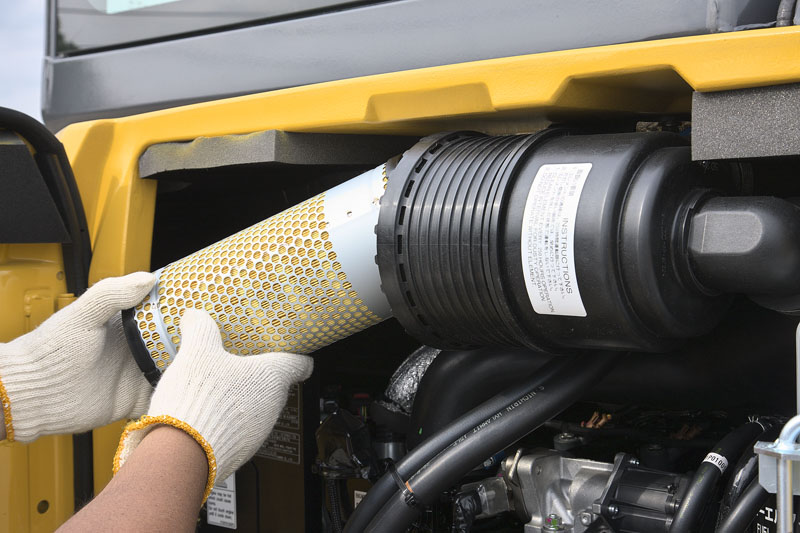 Image of Mini Excavator SK55SRX-6E Air Filter of North America model