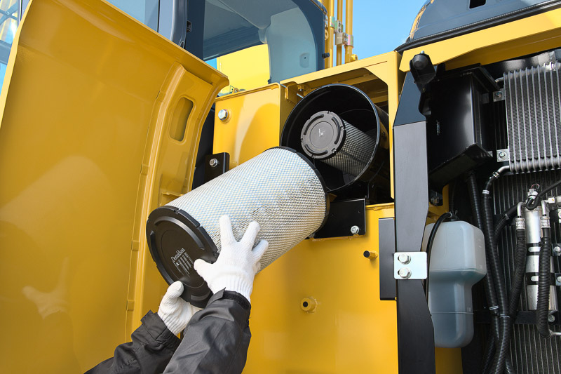 Image of Specialty Excavator SK350LC-10 High and Wide Air Filter for North America model