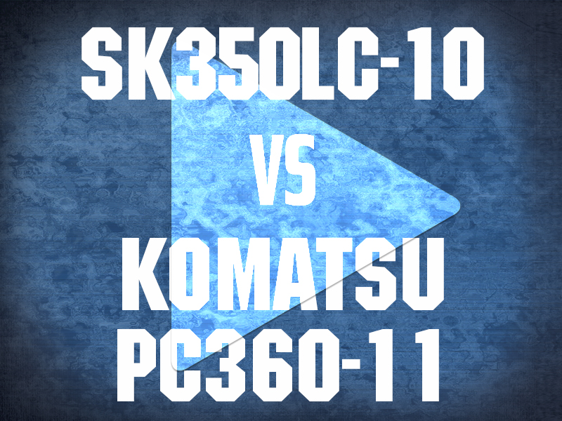SK350LC-10 VS KOMATSU PC360-11 VIDEO