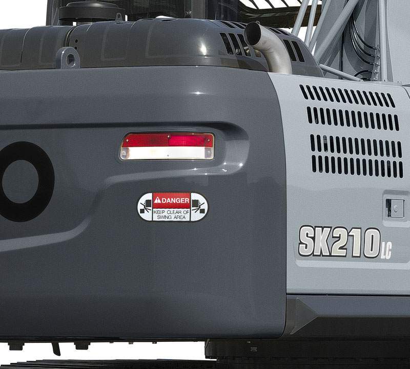 Image of Specialty Excavator SK210HLC-10 Hybrid Swing Flashers for North America model