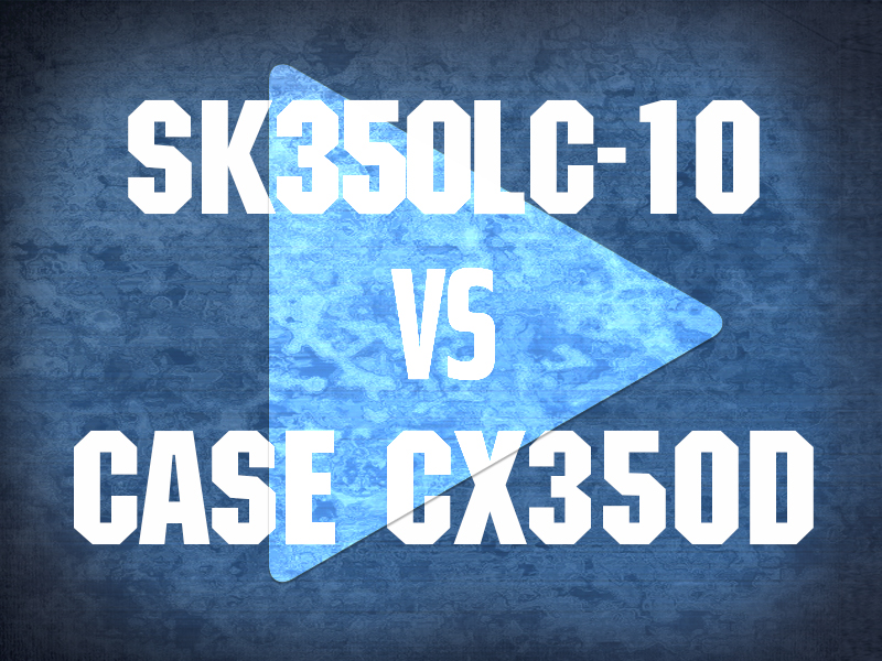 SK350LC-10 VS CASE CX350D VIDEO