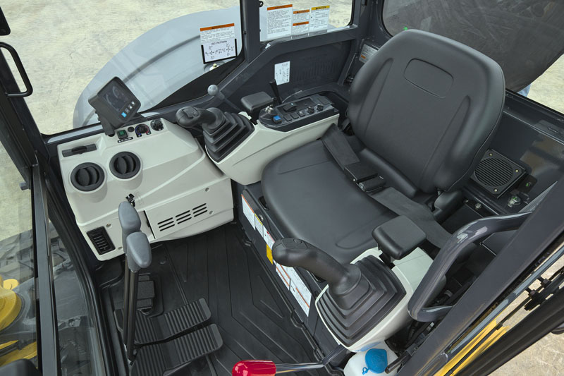 Image of Mini Excavator SK55SRX-6E Controls of North America model